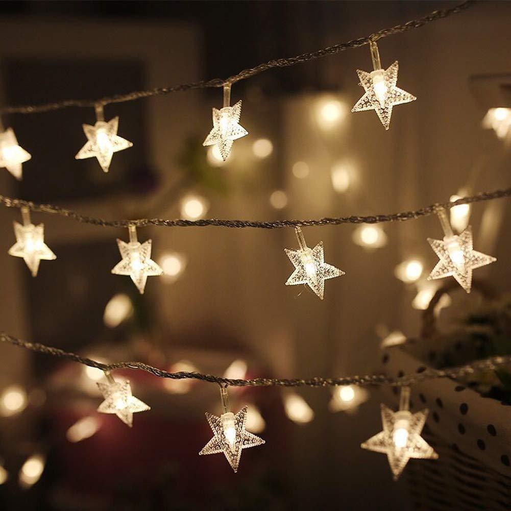 Twinkle étoiles 100 LED 49 FT étoiles de lumières, Branchez fées de lumières imperméable, extensible pour intérieur, extérieur Arbre de Noël
