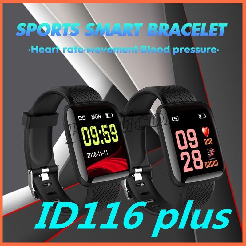 ID116 PLUS Smart Bracelet with Heart Rate Smart Watchband Fitness Tracker Blood Pressure Wristband PK ID115 plus M3 M4 115plus