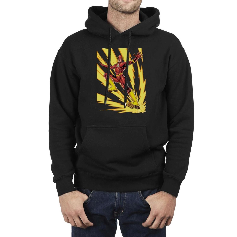 Homens Moda The Flash (Barry Allen) Parafusos de relâmpago preto Oversized Hoodies, de camisola engraçado personalizado fazem Hoodies É Showtime A
