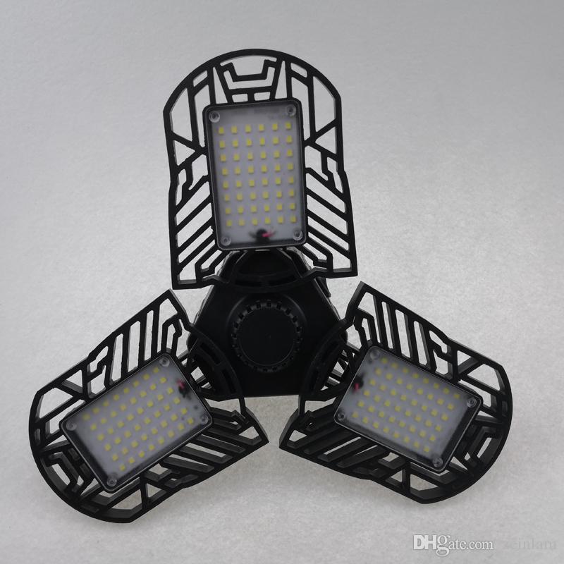 변형 조명 천장 조명, Led 차고 조명 60W 변형 가능한 E26 / E27 6000LM, 워크숍, Trilight Shoplight, 산업 램프, 반