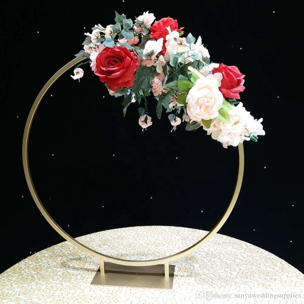Hot selling wedding flower arches round metal arch for table centerpieces decorations senyu0035