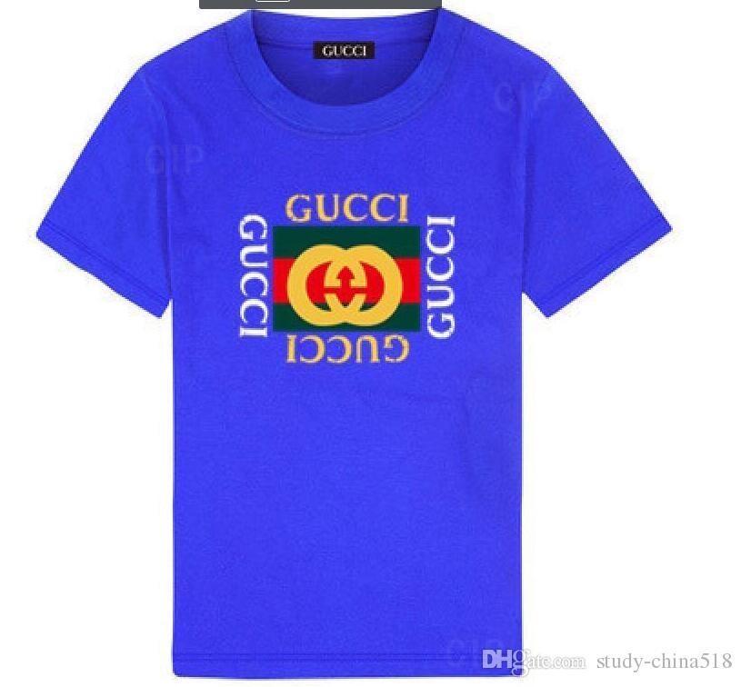 Moda de verano para niños, niñas, ropa, niños, diseñador, manga corta, camiseta, estampado de niños, camisa de gato, camisetas de niño 2-8T años
