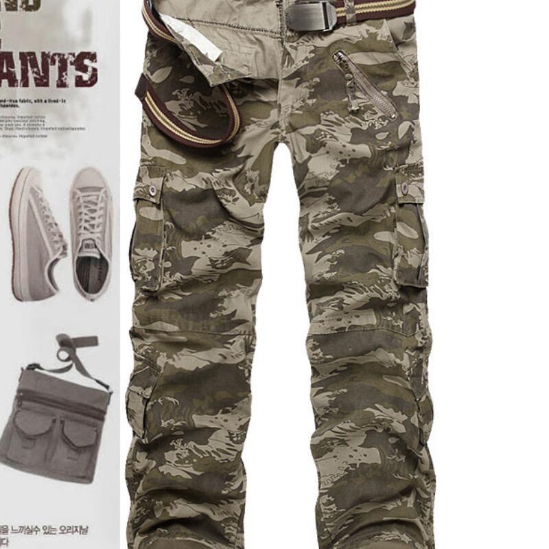 2020 Durable Camouflage Pantaloni Moda Multi Pocket militari di buona qualità Pantaloni Casual tattici esterni Taglie