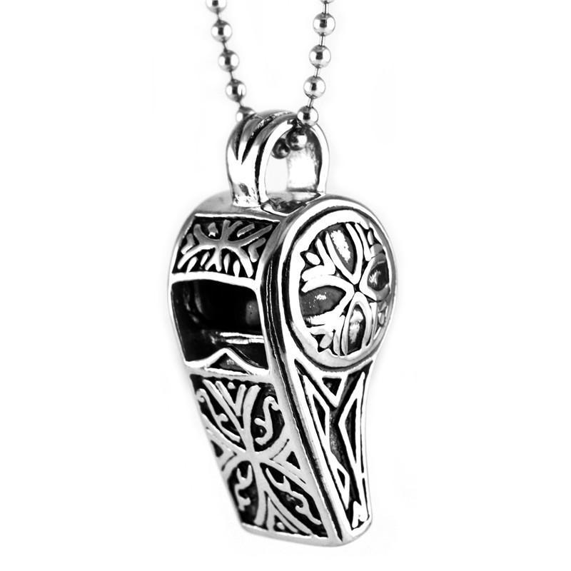 Modeschmuck Titaniumstahl Retro- Pfeifen Anhänger Halskette Persönlichkeit Punk Rock Pfeife Geschenk Großhandel