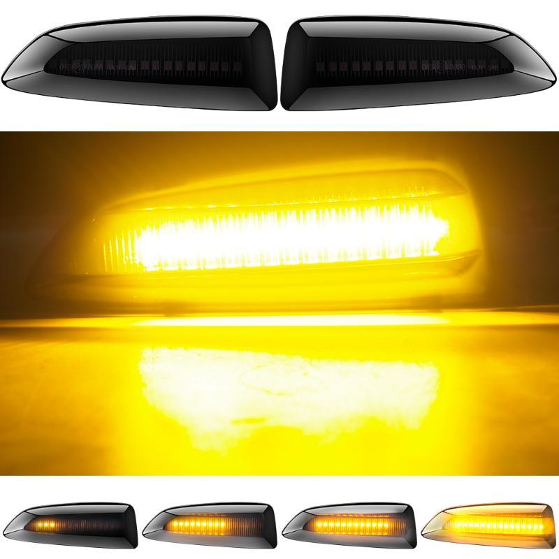 2pcs LED Turn Signal Dynamic Light Side lumière pour Astra J J Caravan P10 2010-2015 Astra K B16 Marker Fender Ambre