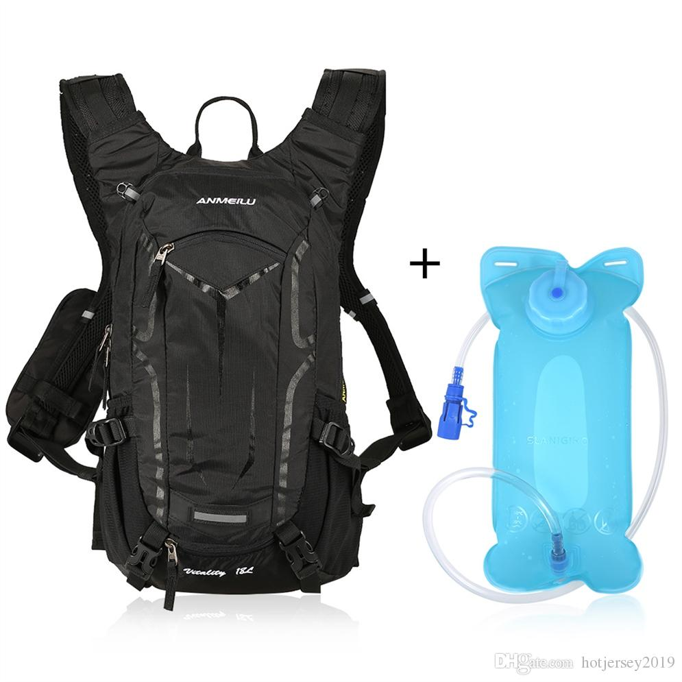 LIXADA 18L Sports Outdoor Bags Waterproof Bicycle Cycling Backpack + 2L Water Hydration Bladder Bag Hiking Backpack + Rain Cover #288249