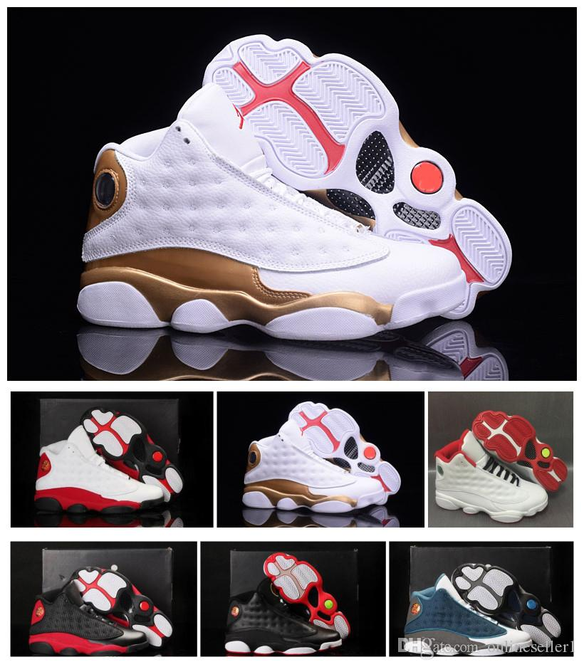 Flints Momentos 13s tênis de basquete 2019 Mens Designer New trigo Chicago Hiper Real Bred verde azeitona Sports Shoes Com Box