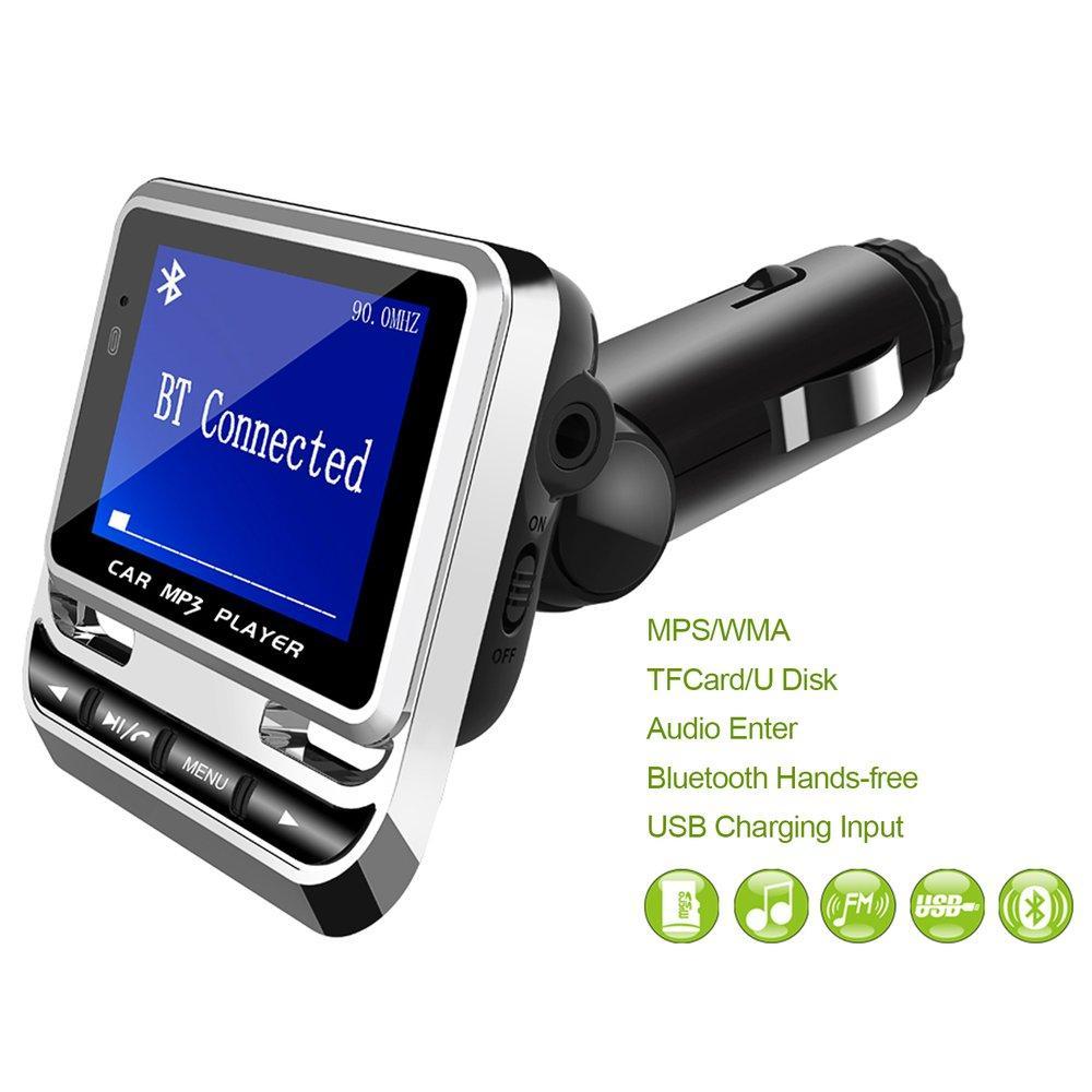 """1.4 """"ЖК-автомобиль MP3 FM-передатчик Модулятор Bluetooth HandsFree Музыка MP3 Audio Player с дистанционным управлением Поддержка TF Card / USB"""