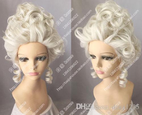 Yeni Yüksek Kaliteli Moda Fotoğraf peruk nakliye Aristokrasi Kraliçesi Moda Peruk, Marie Antoinette Cosplay Parti Peruk HairFree