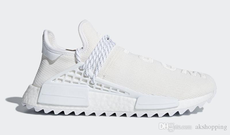 2019 новейшая раса человека фаррелл ху тропа пустой холст белая женщина мужчина кроссовки спортивные кроссовки с оригинальной коробке AC7031