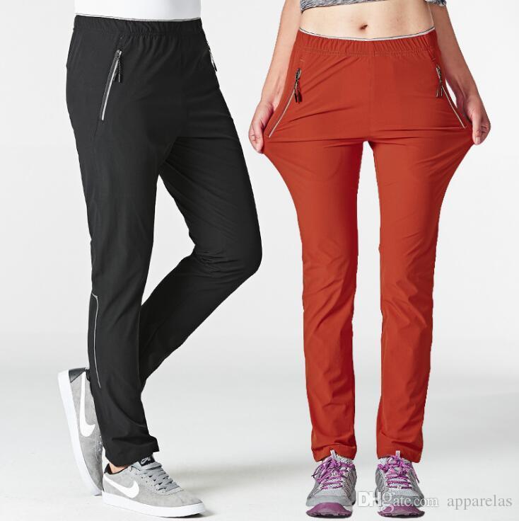 Çabuk kuruyan pantolon erkekler ve kadınlar ince kesit pantolon açık yürüyüş yürüyüş pantolon severler büyük boy streç rahat pantolon