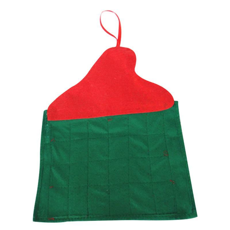 Santa Claus de Navidad Adviento Calendario de cuenta atrás de Navidad la decoración de tela no tejida TUE88