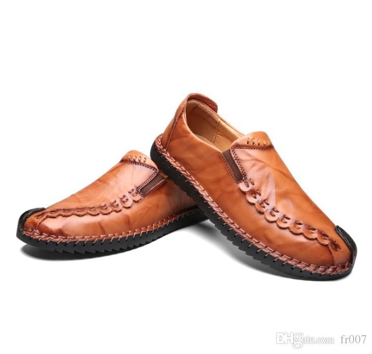 Rommedal coccodrillo scarpe fannullone della pelle degli uomini in vera pelle slip-on mocassini uomo fatti a mano pattini piani di auto di lusso di cammino