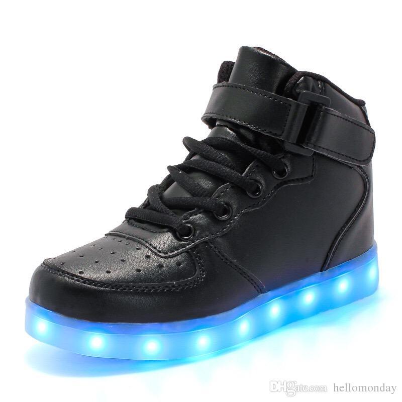 Scarpe casual LED unisex Scarpe sneakers alte e traspiranti Scarpe leggere per donna Uomo Bambina bambino Taglia 4-12,5