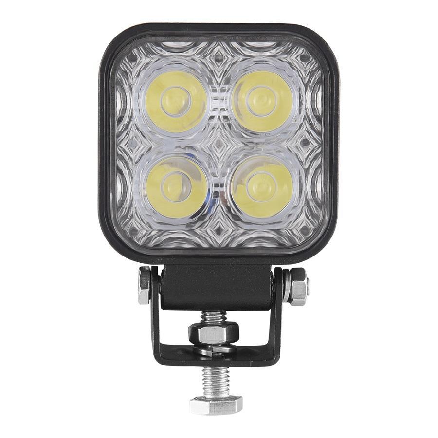 12 12W - 24V Lumière de voiture moulage sous pression Lampe conduite de moto Fog Lampe LED IP67 étanche