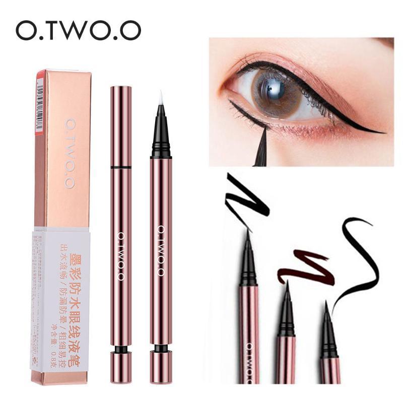 O.TWO.O روز الذهب تصميم العين اينر القلم طويل الأمد كحل السائل القلم الأسود براون لون الحبر ماء maquiagem كحل