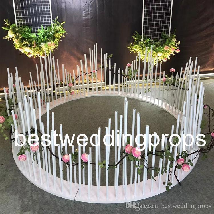 새 스타일 웨딩 파티 무대 배경 벽) (포함) 꽃 스탠드 best0558