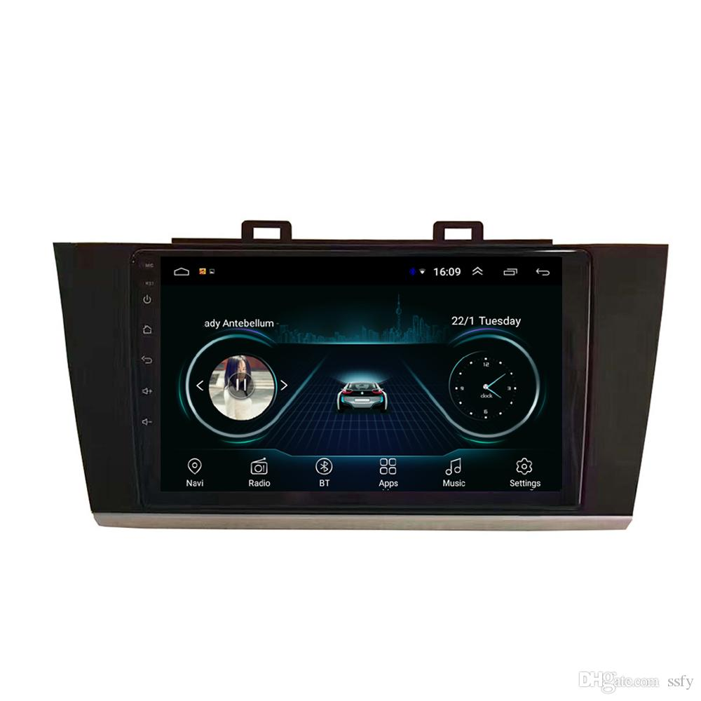 """Android car player with HD 1080 lossless mp3 mp4 music microphone multimedia player Resolution HD 1024*600 for Subaru outback legacy 2018 9"""""""