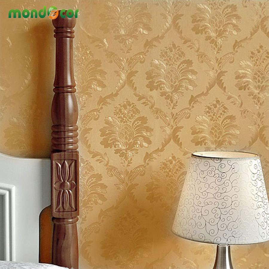 Vintage Damask Self adhesive Wallpaper Embossed Wall Paper For Bedroom Living Room TV Background Wall Covering Roll