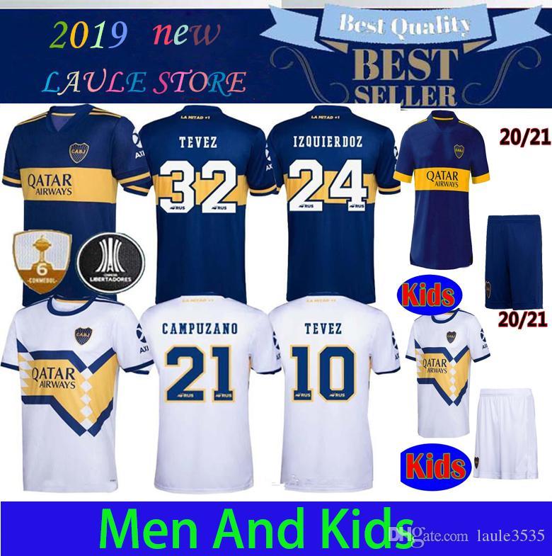 2020 2021 Boca Juniors fútbol Jersey casa Fuera 20 21 Boca Juniors TEVEZ MARADONA MOURA ABILA REYNOSO DE ROSSI JRS camiseta de fútbol deportes