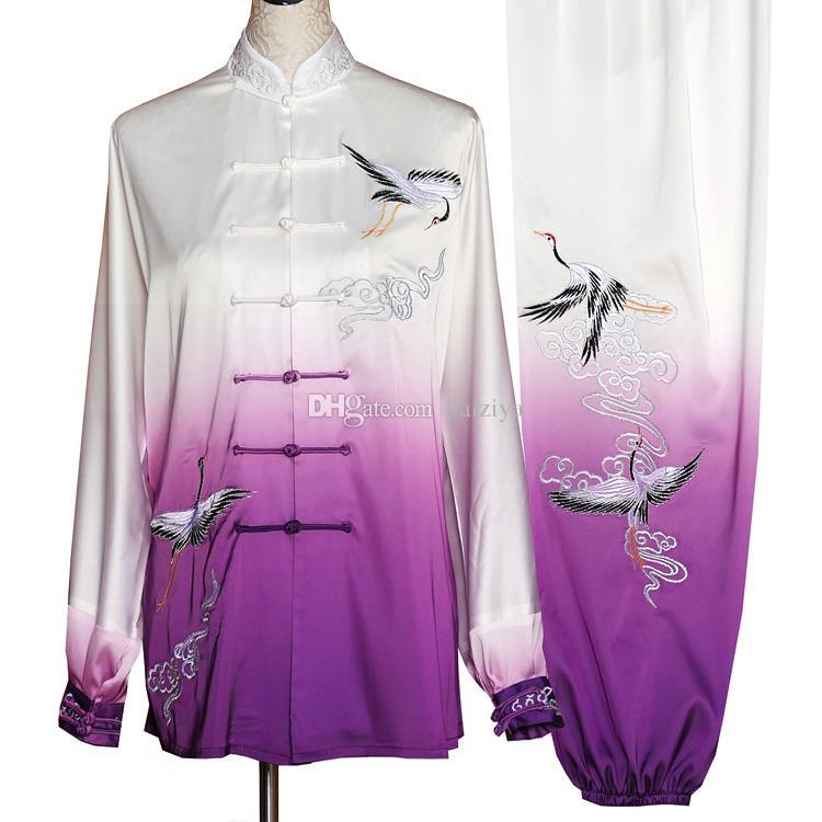 Chino Tai chi ropa Taiji espada de prendas de vestir traje de rendimiento kungfu traje embroideried para mujeres hombres niños niños adultos muchacha del muchacho