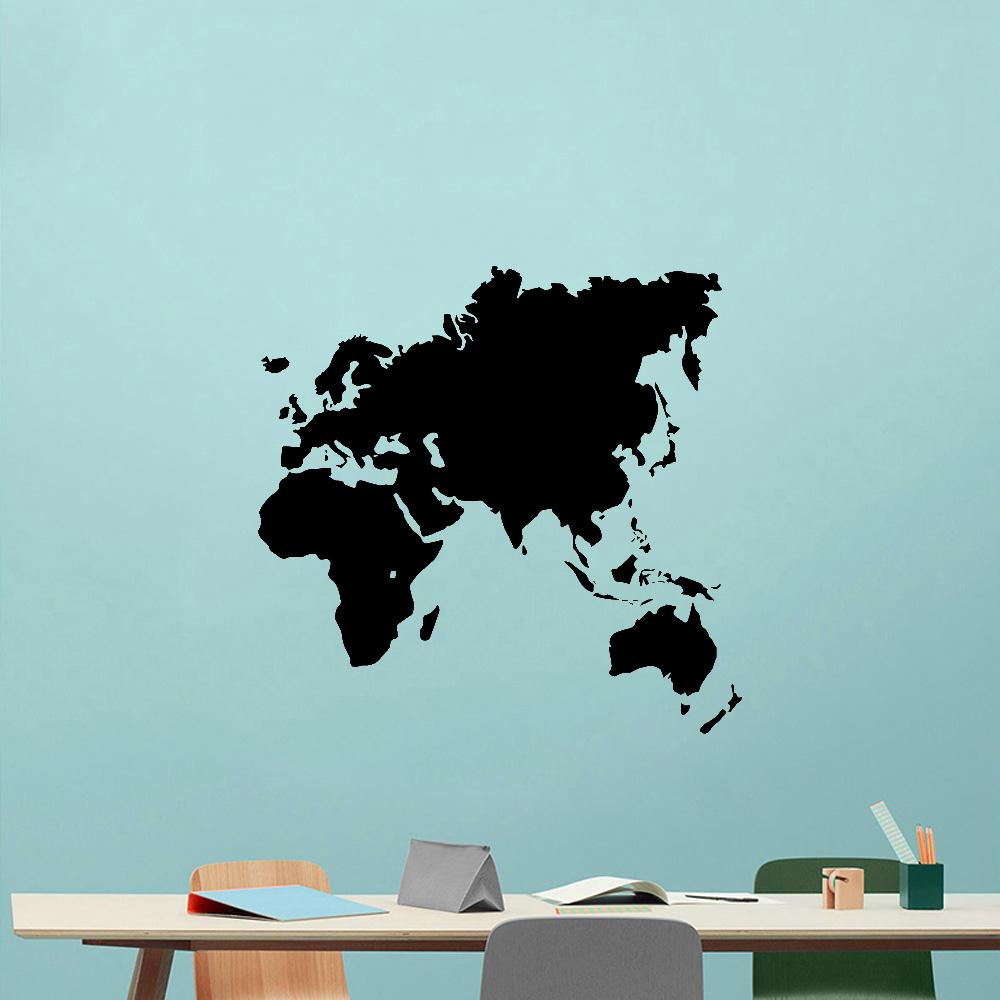 New World Map vinyl Wall Sticker Wallstickers Removable Wallpaper For Living Room Bedroom Decor Decals Kids Room Decoration