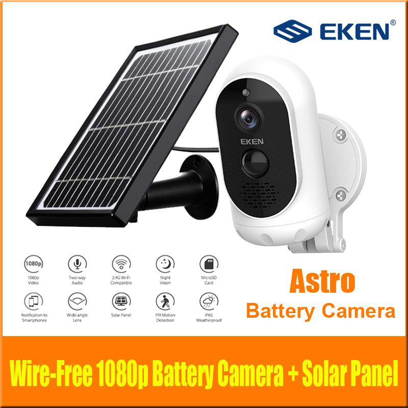 Camera Full HD Batteria Originale EKEN ASTRO 1080p con la fotocamera pannello solare IP65 resistente alle intemperie Motion Detection 6000mAh batteria di sicurezza