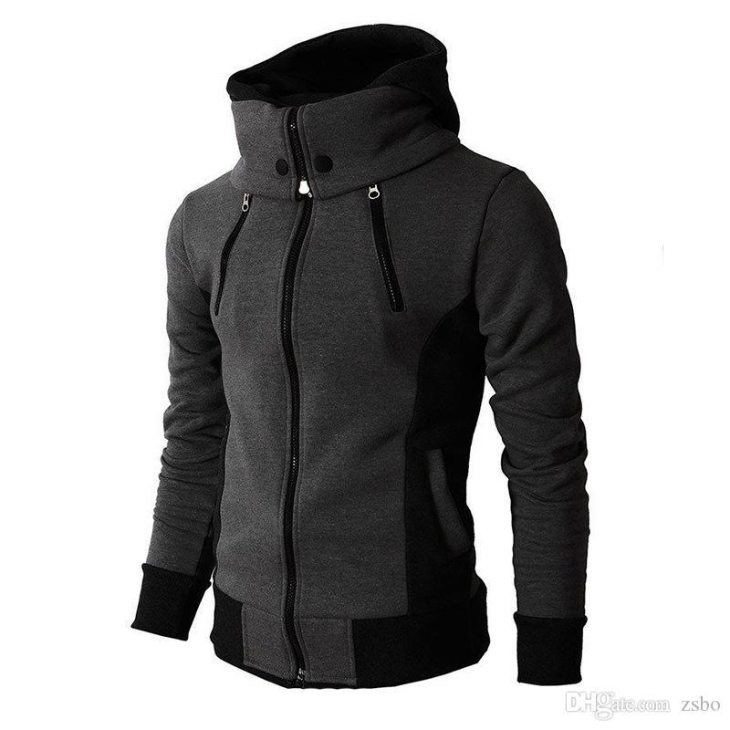 2019 il progettista del mens hoodies autunno nuovo modo con cappuccio da uomo falso due sport piece La primavera e cardigan in forma WGWY206 cappotto con cappuccio degli uomini casual