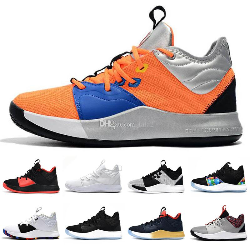 Hot PG 3 NASA Kids Basketball shoes for sales Top Quality Paul George 3 Men Women Sport shoes store free shipping