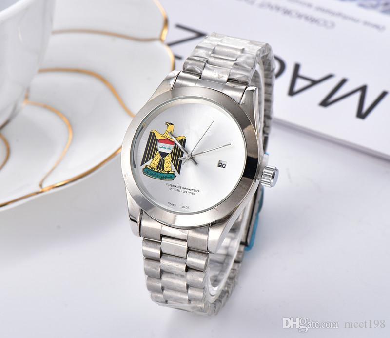 Neue Männer Uhren Mode Mann Designer Uhrarmbanduhren Männer Kleid-Uhr-Quarz-Taktgeber Stahl männlichen Uhr Luxus
