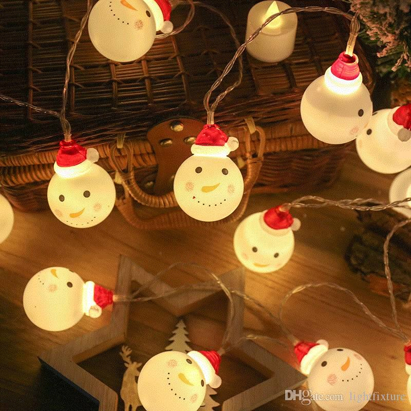 New Led Battery Powered Snowmen String Lights Outdoor Garden Christmas Tree Decorations Lighting Holiday Party Led Light Bulb String Lights Christmas String Lights From Lightfixture 7 65 Dhgate Com