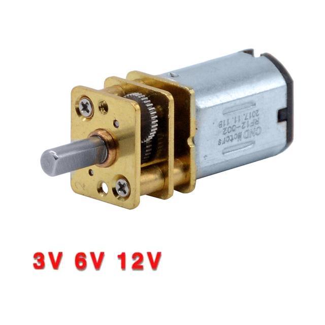 Accessoires moteur 3 6V 12V DC N20 Mini Micro Metal Gear Motor avec Roue dentée DC Motors 15 30 50rpm