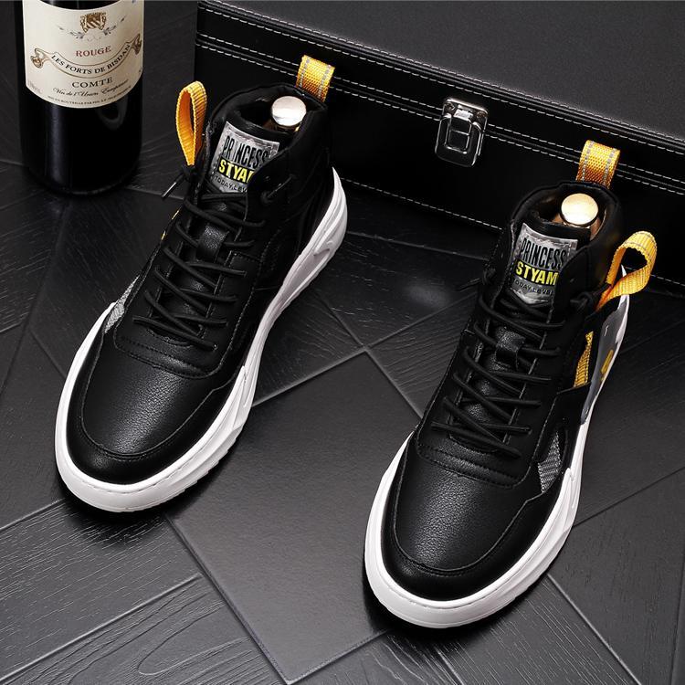 I colori misti di nuovo modo casuale degli uomini Designer Shoes Flats alto piattaforma SNEAKERS maschio vestito da promenade Mocassini Mocassini