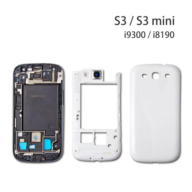 Для Samsung Galaxy S3 S4 S5 задняя крышка корпуса чехол для Galaxy S3 i9300 S4 i9500 i9505 I337 S5 i9600 G900 крышка батарейного отсека