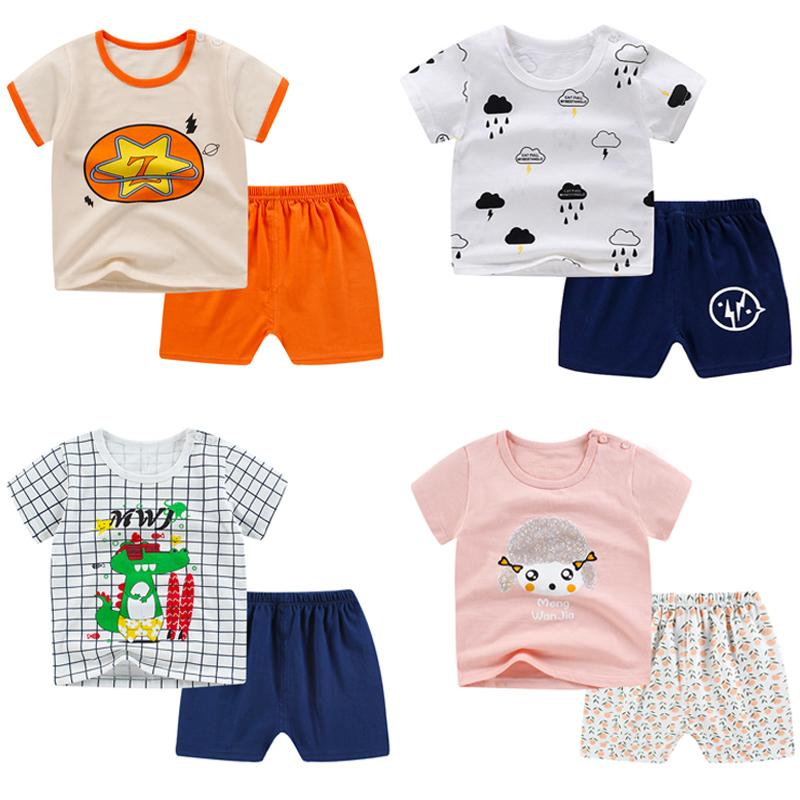 SUMMER KIDS T-shirt 100% Cotton BOY GIRL 0-2 Yrs Old Soft and Comfortable Thin Suit Excellent Value