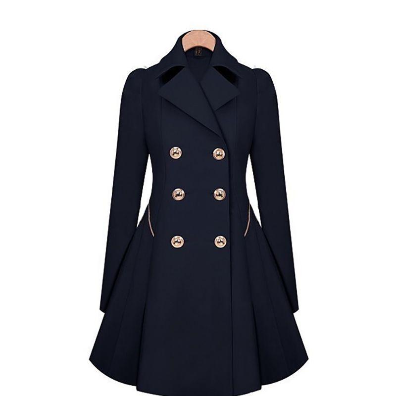 Damengrabenmäntel Lange Windjacke Massivfarbe Tasche Wasserdichte Leichte Kapuze Raincoat Outdoorjacke