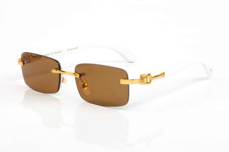 Fashion Blanc Nouveau pour femme Buffalo Horn Natural Attitude Corne Lunettes Lunettes Cadre Mens Lunettes de soleil Optique Buffalo Sunglasses Wh CEWJ