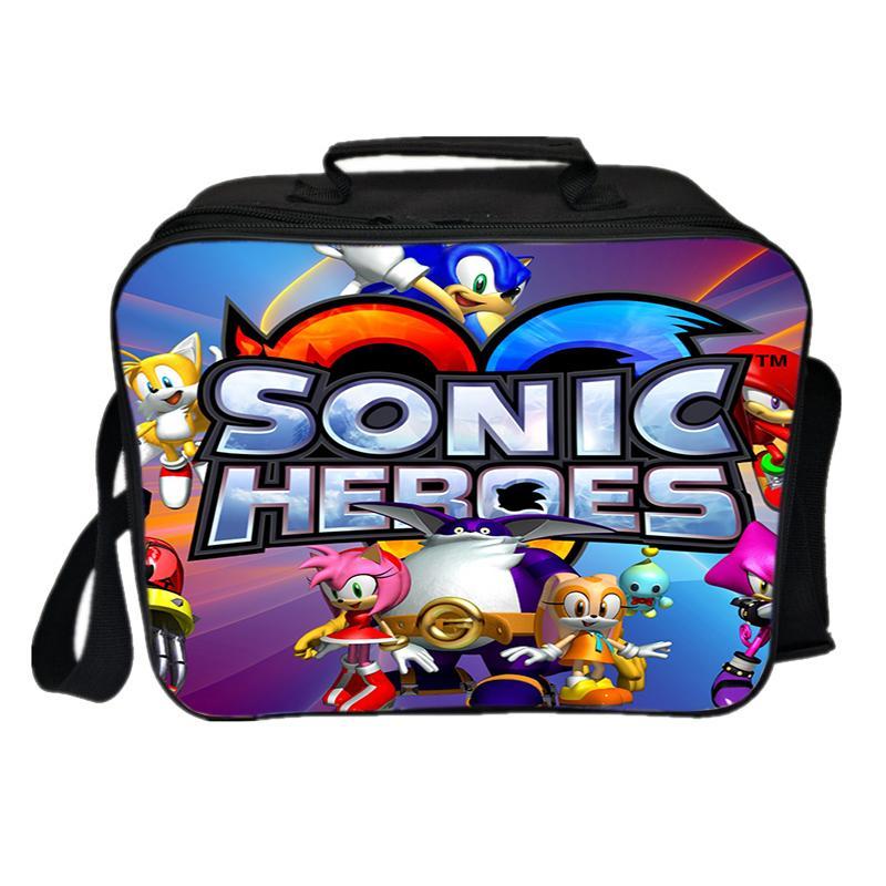 Borsa di Sonic studenti Pranzo di picnic della moda di New Borse di stoccaggio funzionale Scuola di Moda di isolamento del sacco Worker Lunch Box portatile