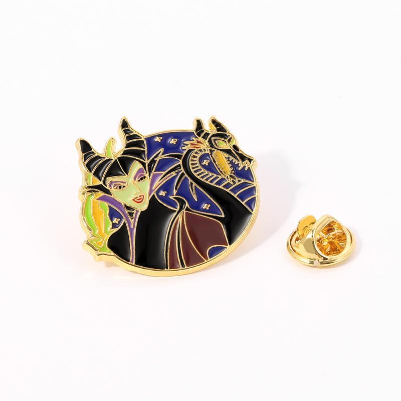 Malefica con Dragon smalto pin spille in metallo distintivo gioielli di moda i film della serie perni del risvolto accessori gioielli