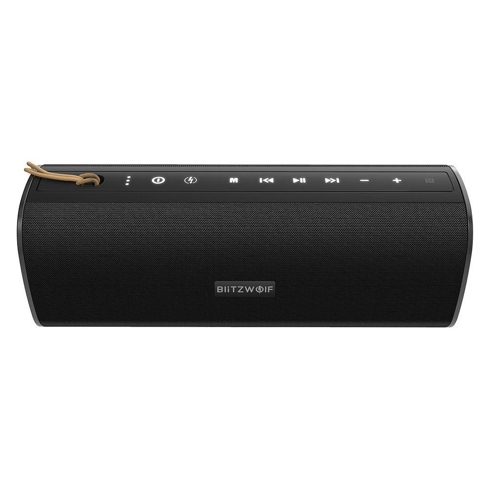20W sem fio Bluetooth Speaker dupla passiva Diafragma TWS NFC baixo Subwoofer impermeável ao ar livre Soundbar Mic