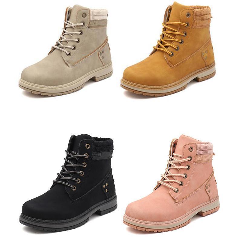 2020 donne calde di modo stivali progettista della neve martin ankle boot colpo per l'inverno tripla scarpa castagno nero Womens rosa