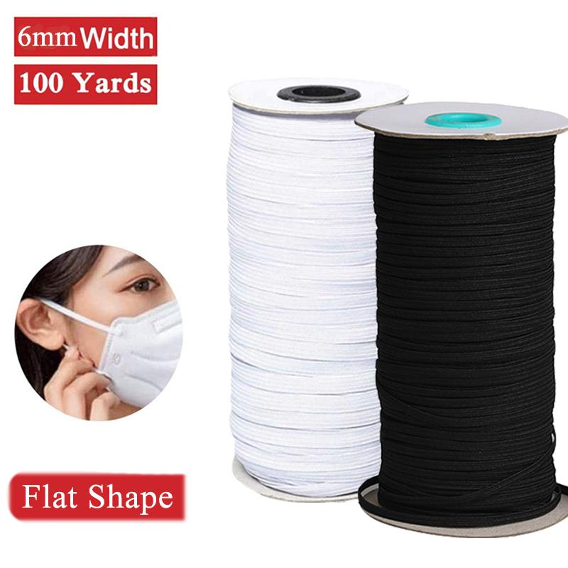 2020 100 Yards Elastic Bands For Face Masks Braided Elasticated