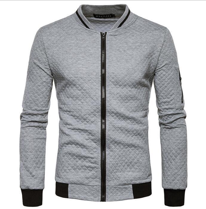 Collier Zipper manteau à capuche décontracté Mens Bomber Contraste Designer Veste couleur sport Manteaux hommes Outwear Streetwear Harajuku