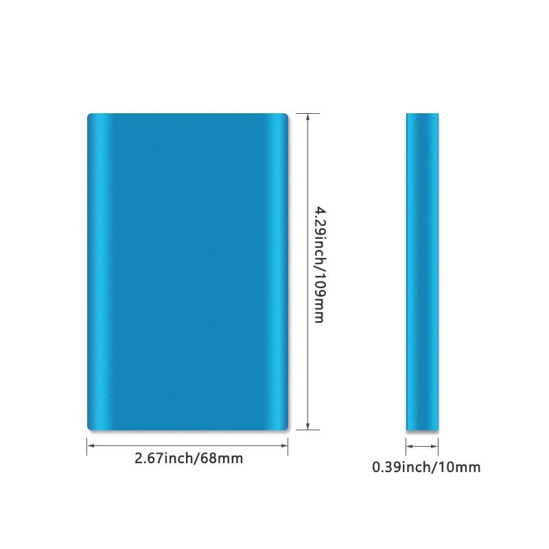 Factory Lowest Price!QiChen 4000 mAh Ultra Power Bank Portable Slim Charger External Battery for Samsung S10 S8 Tablet PC Wholesale