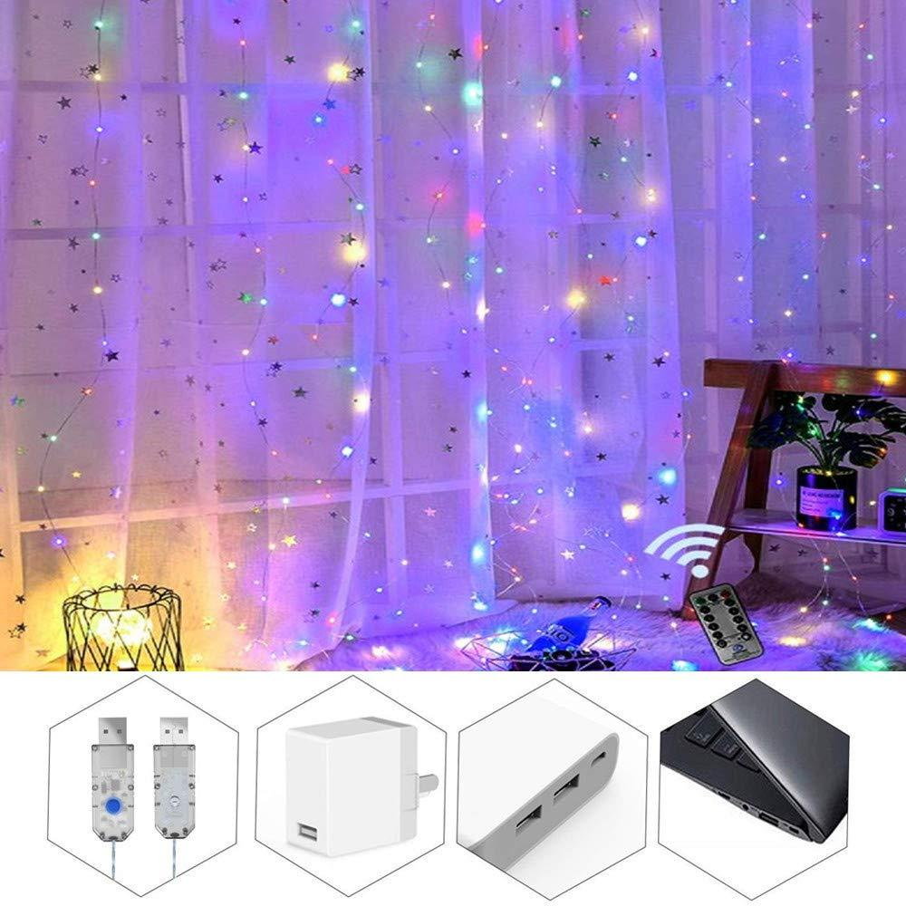 2019 New Christmas Halloween Decoration Light 3M 300LED led Curtain Icicle Light Home Green Light