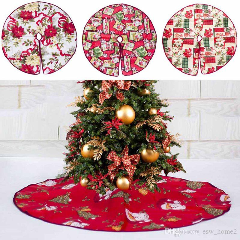2019 Christmas Tree Skirt Base Floor Mat Apron Cover Xmas Party Home Decor/_x