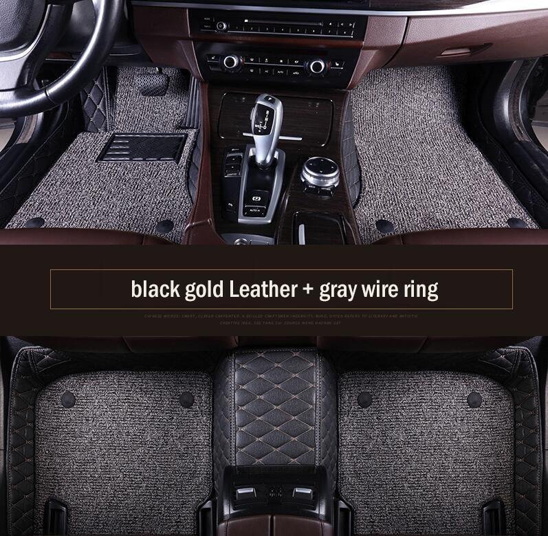 tapis de voiture sur mesure pour BMW Série 7 Tapis de protection tout temps pour voitures DoubleLayer
