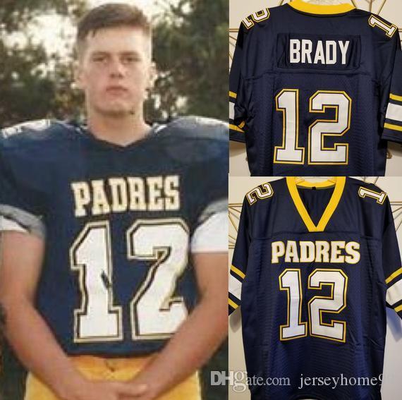 2021 Mens Tom Brady 12 Junipero Serra Padres High School ...