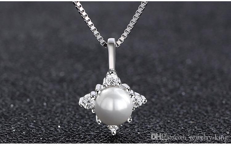 Mischauftrag hochwertige S925 Sterling Silber Perle Anhänger für Chokerhalsketten Perlenschmuck Silber Süßwasserperlenschmuck DDS0248