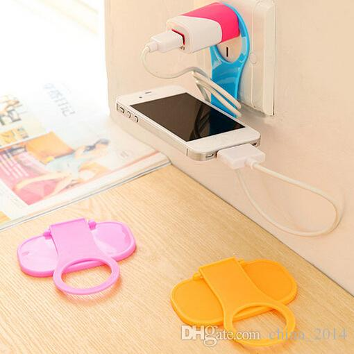 Folding Cell phone Charging Pallet Stand Holder Travel Portable battery Charging Hanging Hook Sucker Mounts for all mobile phone free shippi